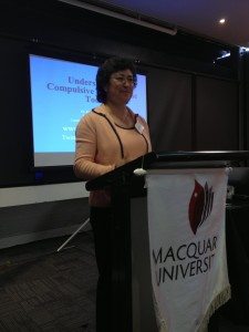 Dr. Kimberly Young speaking at Media Addiction conference in Sydney, Australia.